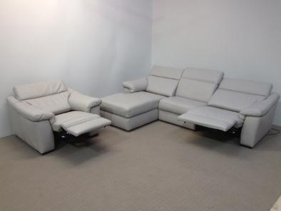 Lovely RING FOR CURRENT STOCK Natuzzi Editions B760 Sensor Dove Grey Leather In  High Category Cat20 Leather. RRP£4968 Our Clearance Price £3299