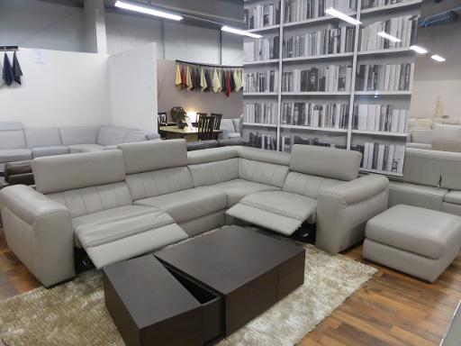 Natuzzi Editions B760 Club ex display power reclining sofa with matching  footstool high grade dove greyleather going cheap half the actual price   2499 Call. Natuzzi clearance stock