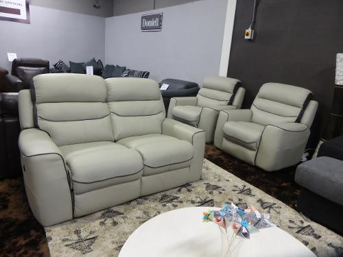 La-z-boy Missouri 2 seater power recliner with 2 static chairs Grey high quality leather La-z-boys flagship model Clearance cancelled order going at half ... & Natuzzi-clearance-stock islam-shia.org